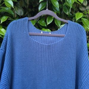 Blue Slouchy Sweater